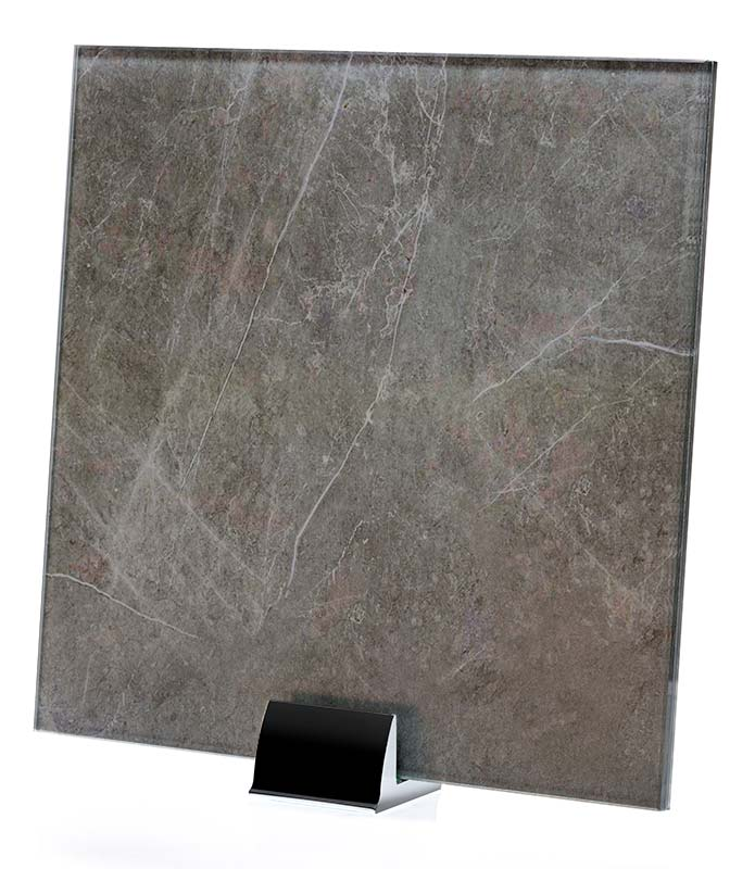 IM 3316 Stone Grey Printed and laminated Glass