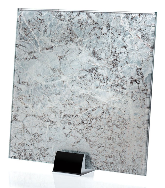IM 3317 Blue Stone Printed Glass