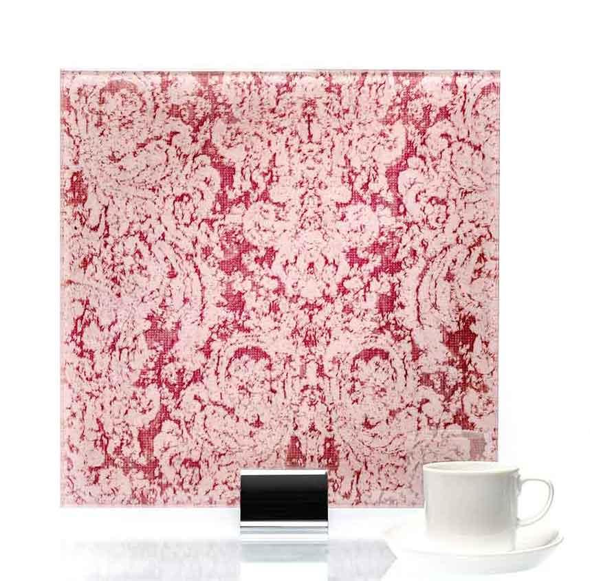 IM 3041 Heirloom Pink Fabric Laminated Glass