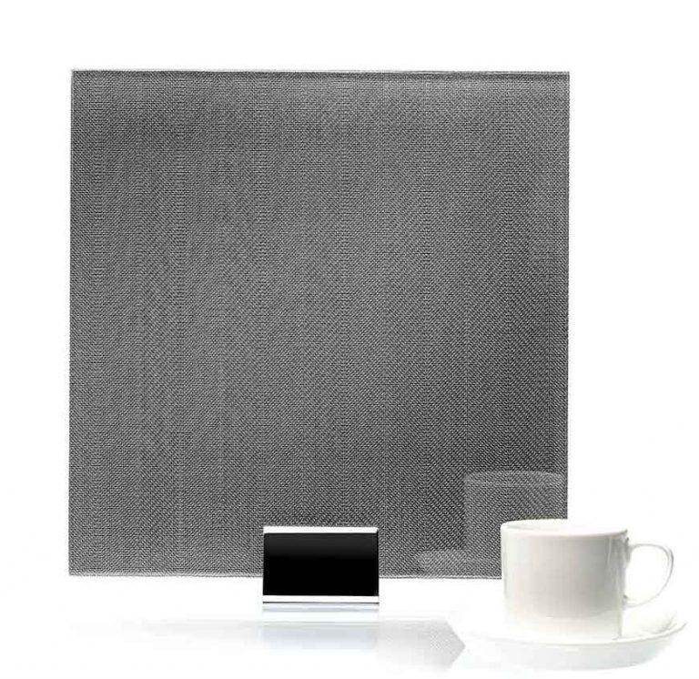 IM 3508 Chevron Clear Silver Metal Laminated Glass