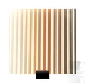 Gradient Stripe Printed Glass